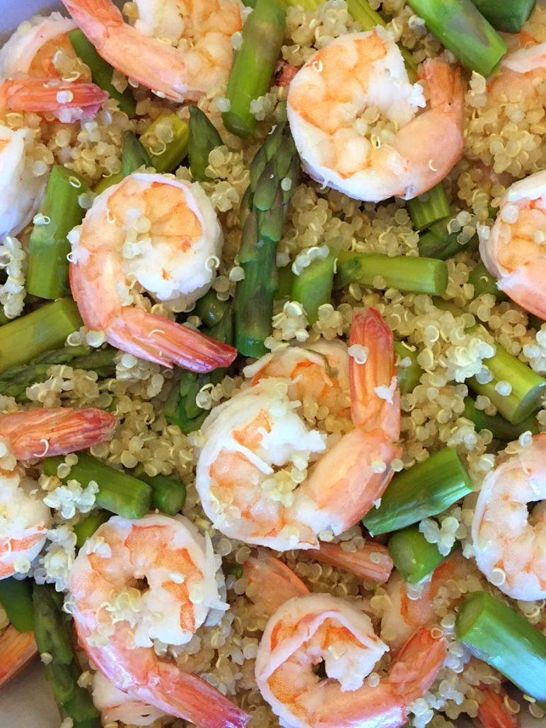 Shrimp Asparagus Quinoa Recipe
