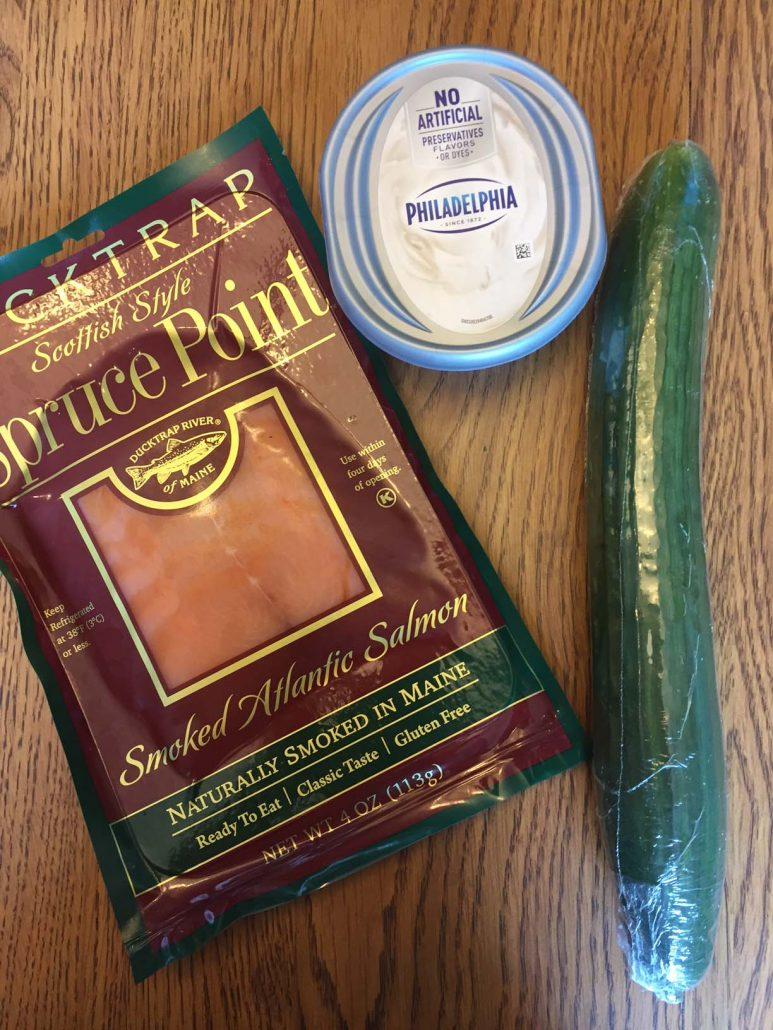 Smoked Salmon Cucumber Cream Cheese