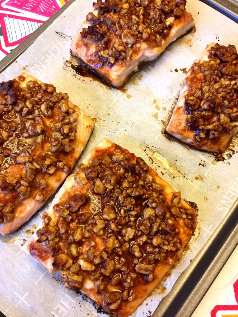 Easy Walnut Salmon Recipe