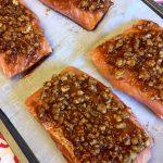 Baked Walnut Salmon