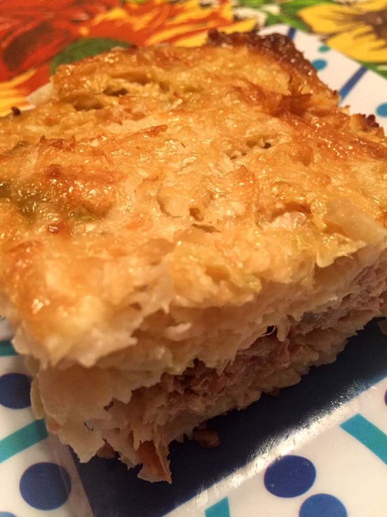 Beef and cabbage low-carb bake