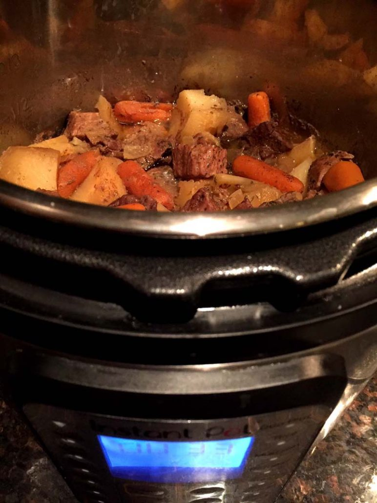 Cooking Beef Stew In Instant Pot