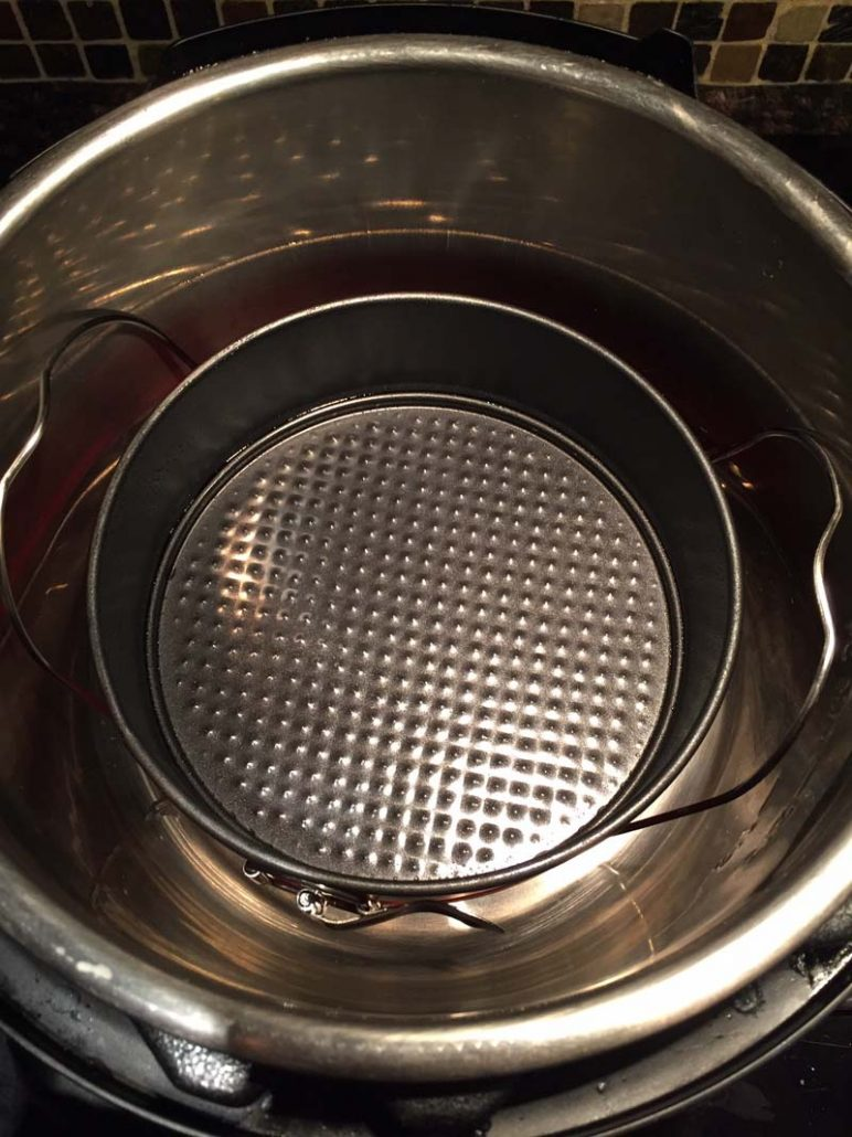 7 inch springform pan inside the Instant Pot