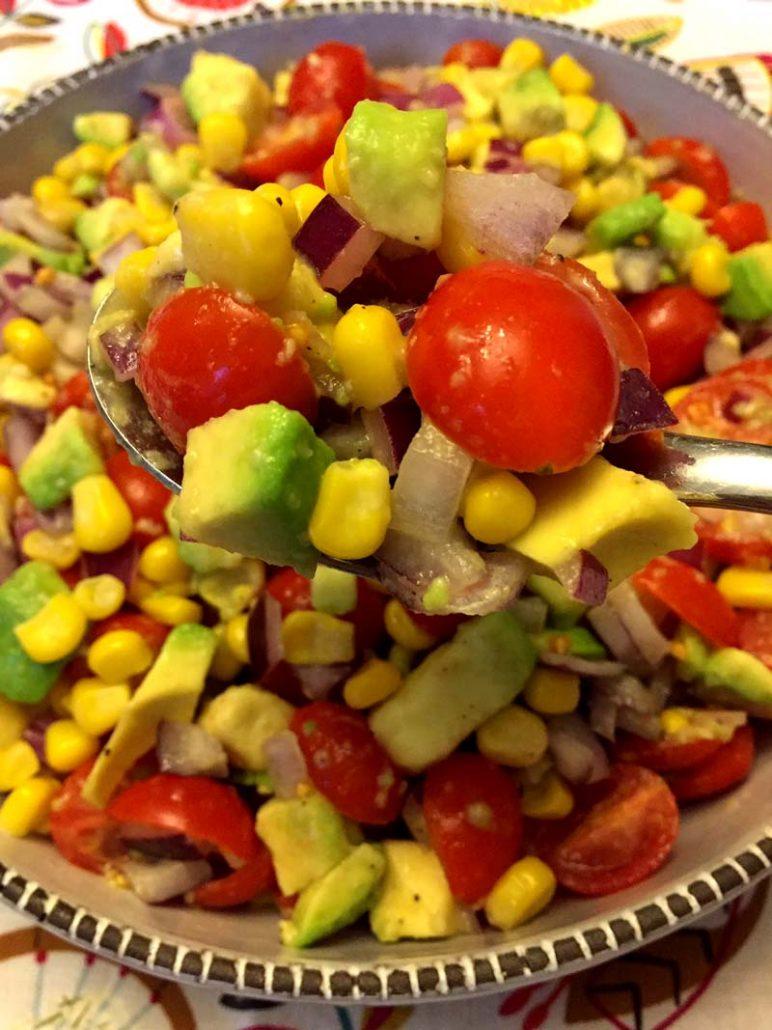 Corn Tomato Avocado Salad Recipe