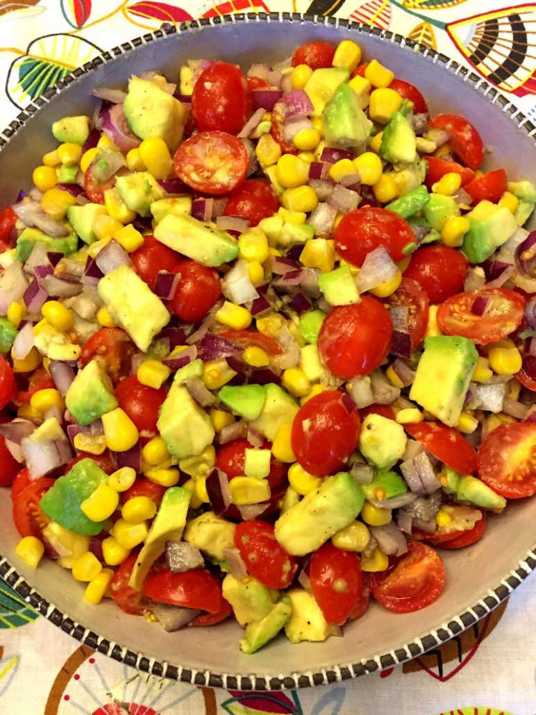 How To Make Corn Tomato Avocado Salad
