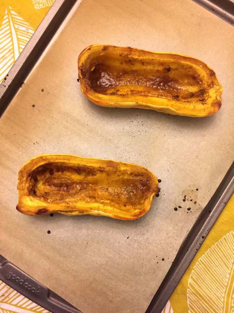 Baked Delicata Squash Halves