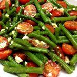 Green Beans Tomato Feta Salad