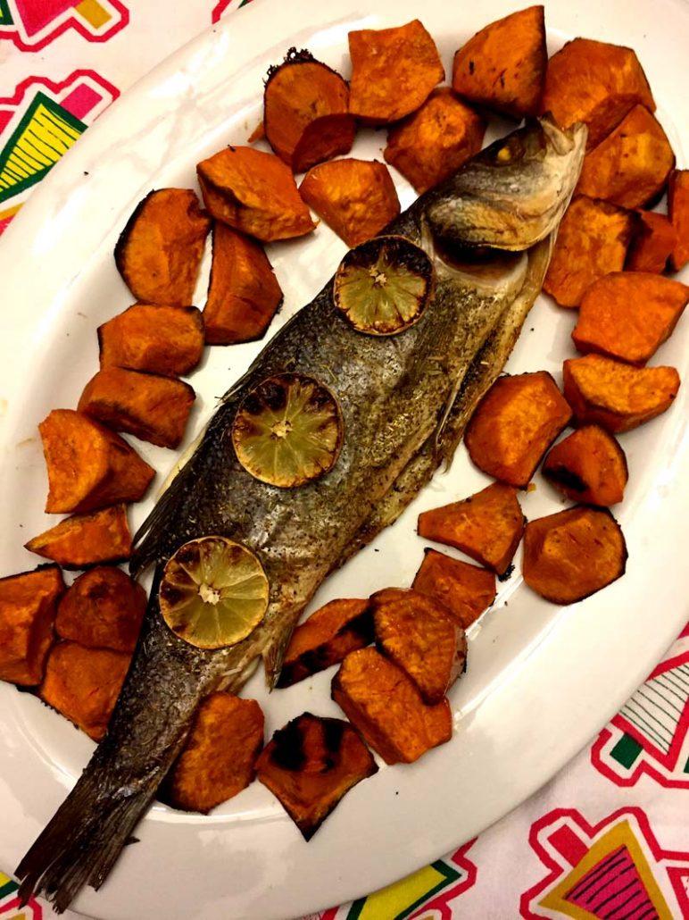 Baked Whole Branzino Fish