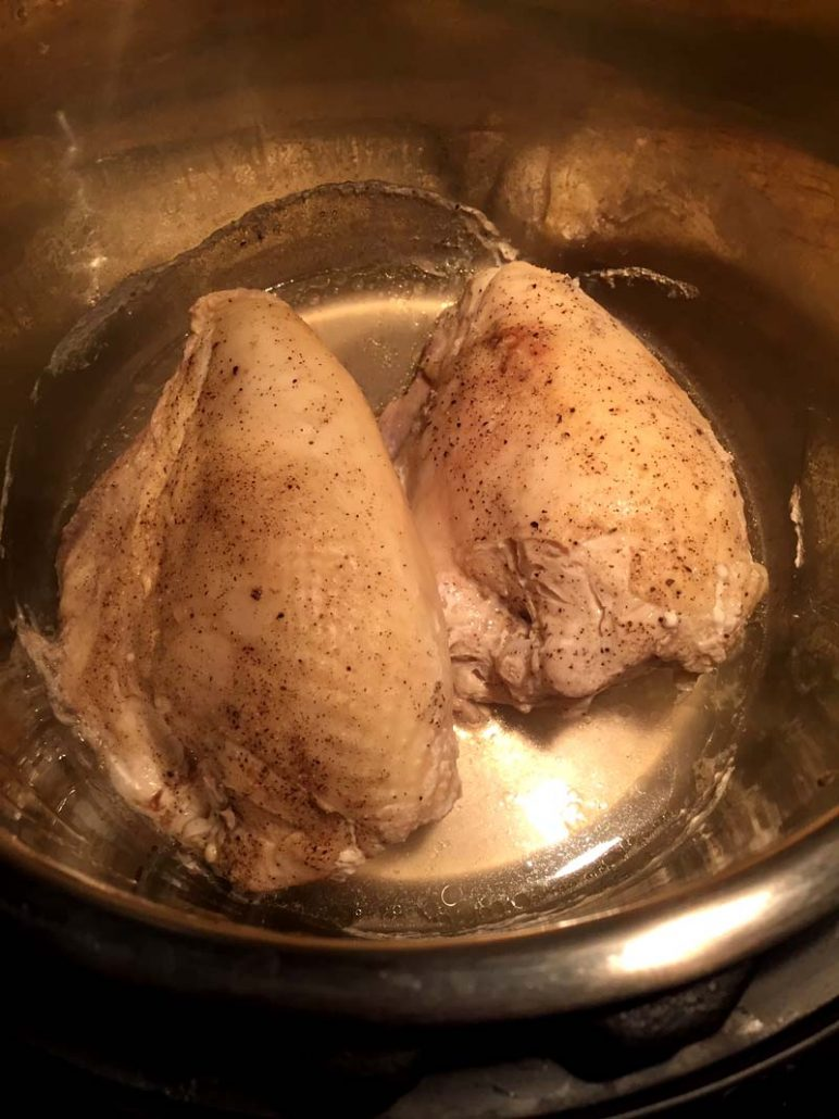 How to cook bone-in chicken breast in Instant Pot