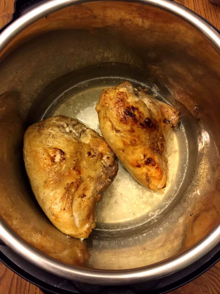 Pressure Cooker Bone-In Chicken Breast