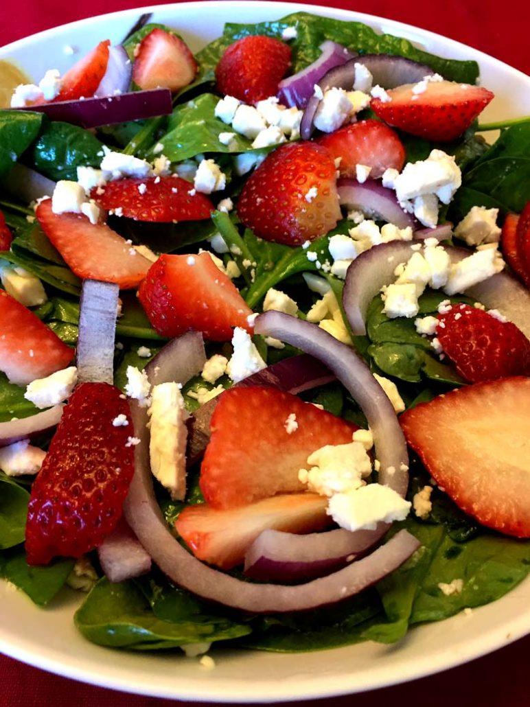 Best Spinach Strawberry Salad