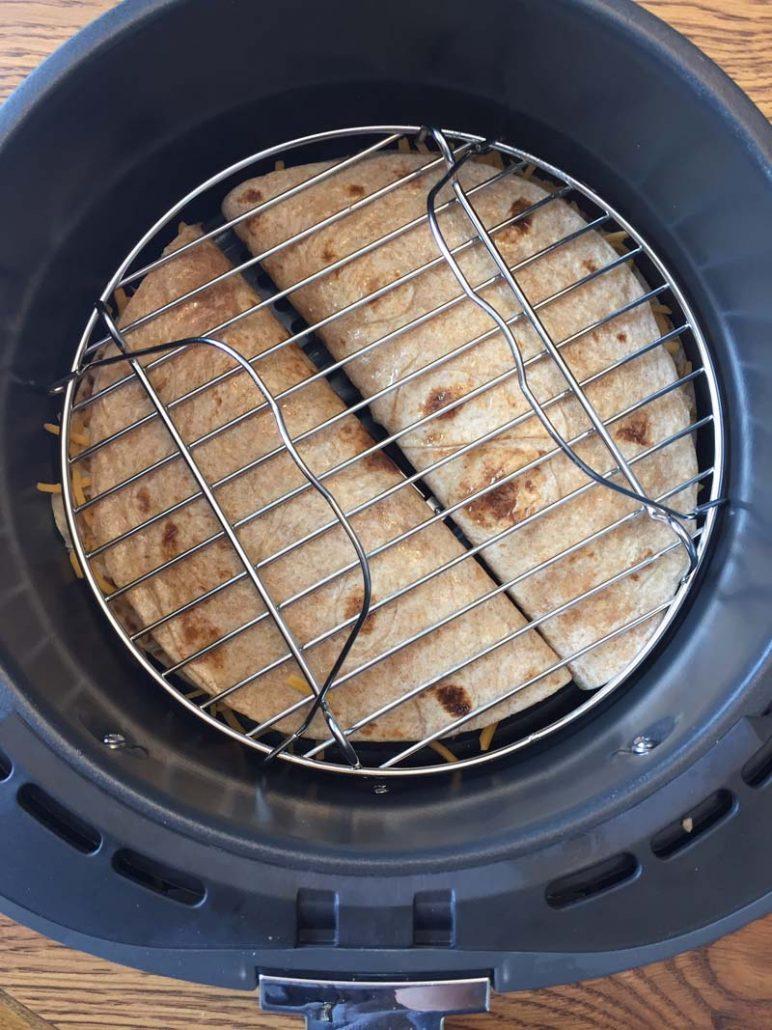 air fryer quesadillas step by step