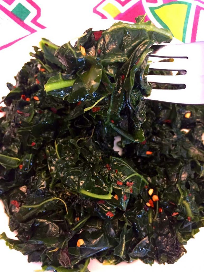 Spicy Garlic Kale Cooked In Instant Pot