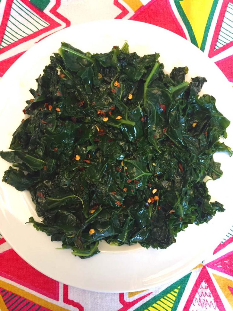 Instant Pot Spicy Garlic Kale