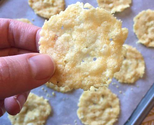 Keto Baked Parmesan Crisps Chips