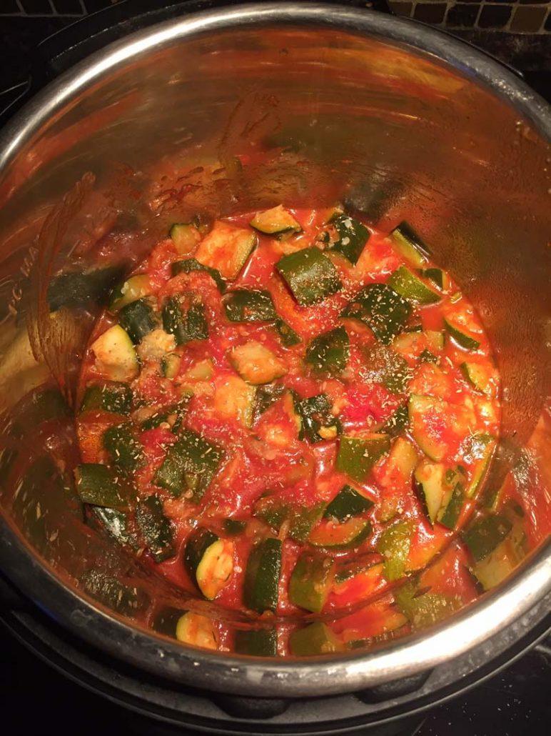 zucchini in the Instant Pot