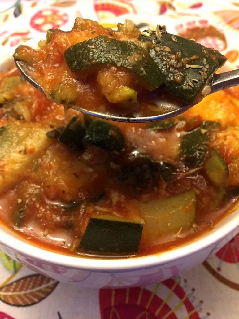 Instant Pot spicy garlic zucchini