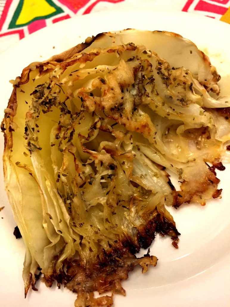 Oven Roasted Cabbage Recipe With Parmesan Cheese