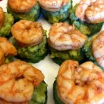 Cucumber Avocado Shrimp Keto Appetizer