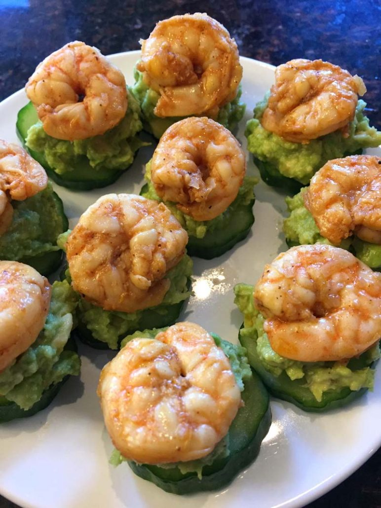 Avocado Shrimp Cucumber Bites Recipe