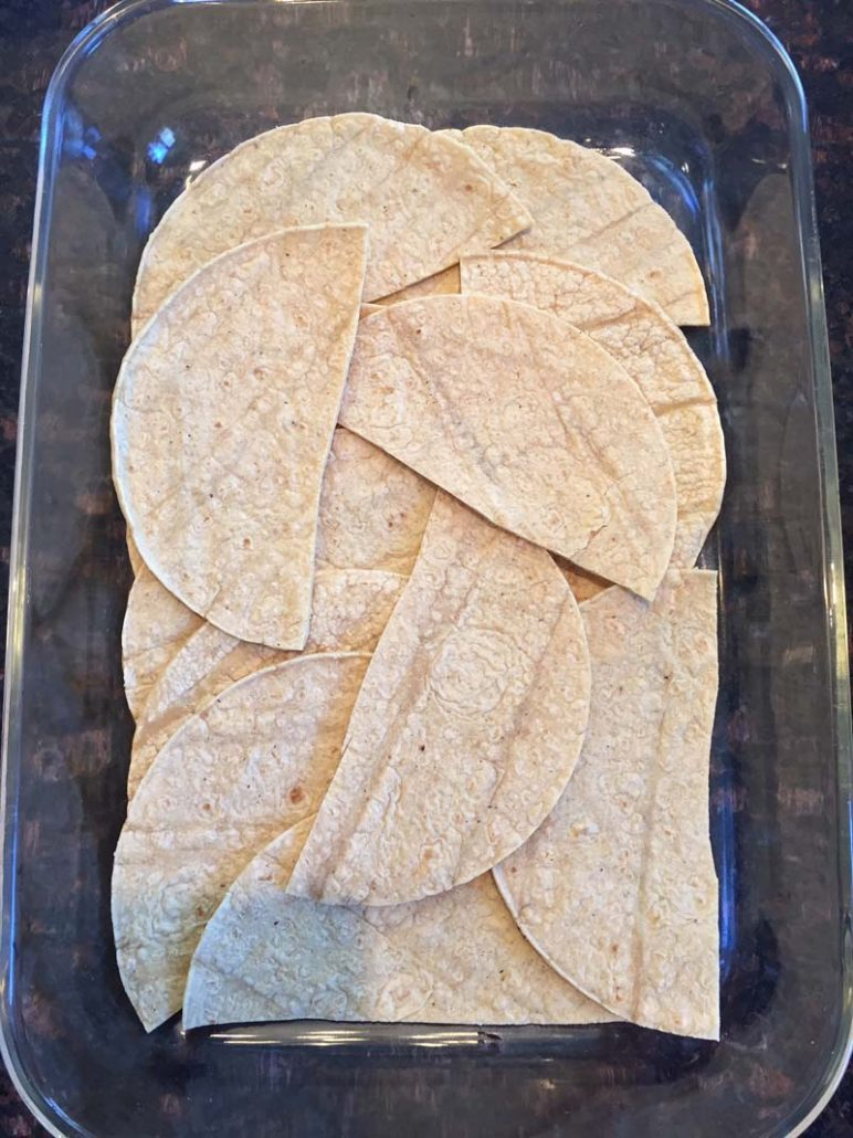 corn tortillas layer
