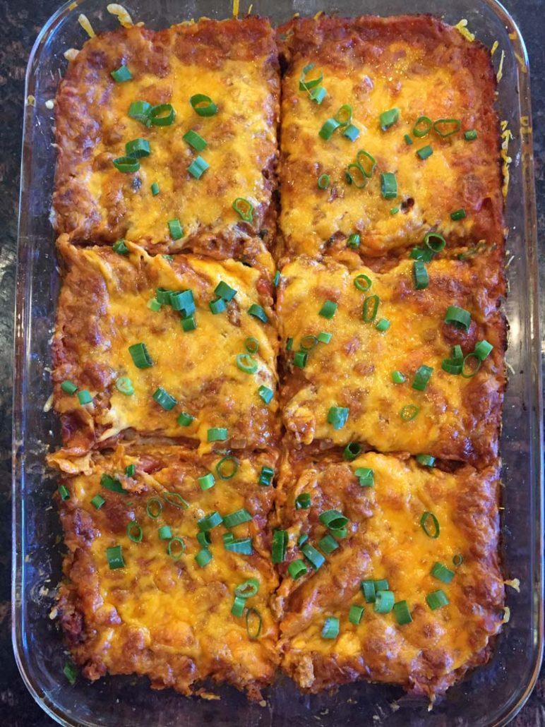 easy Mexican enchilada casserole recipe