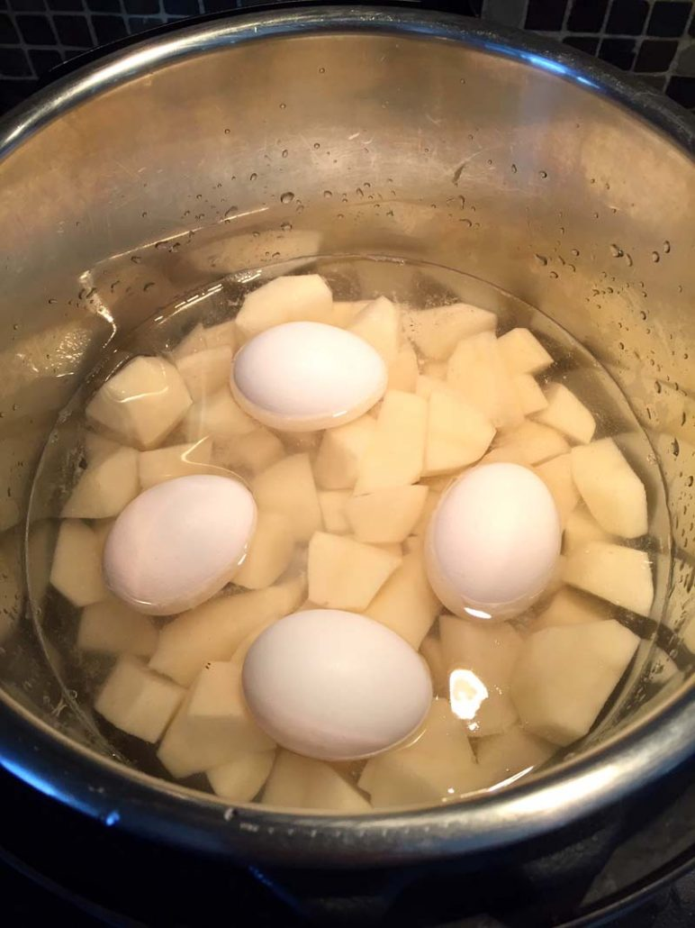 Cooking Potatoes And Eggs For Potato Salad In The Instant Pot