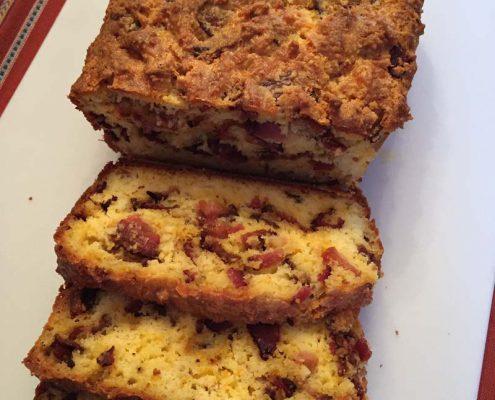 Keto Cheddar Bacon Bread