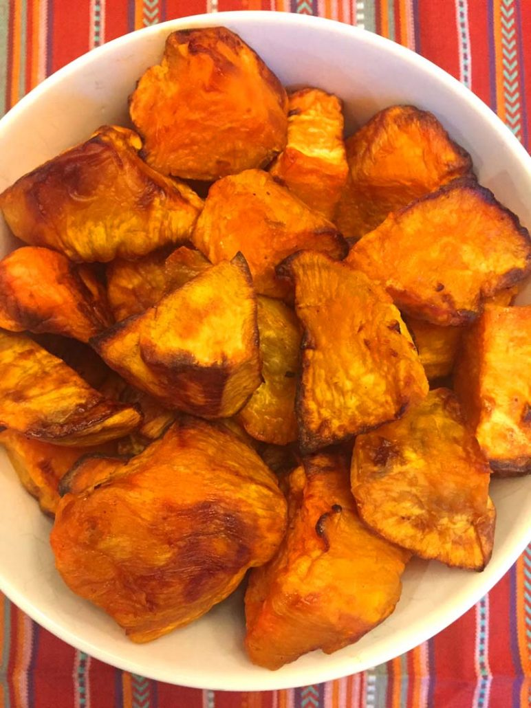 air fryer sweet potato pieces