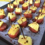 Kielbasa Pineapple Appetizer Skewers