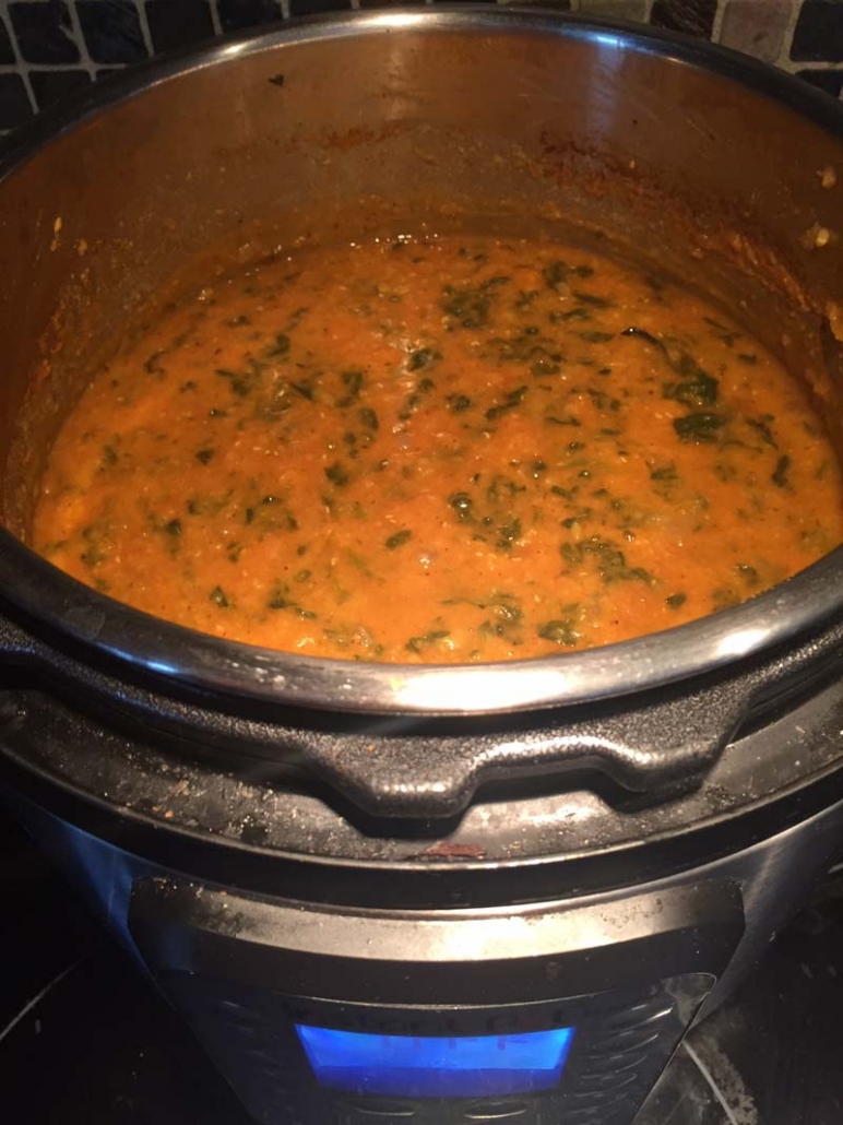 cooking lentil soup in instant pot