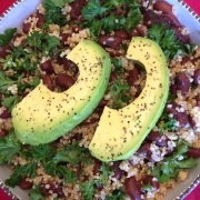 Vegan Avocado Quinoa Bowl