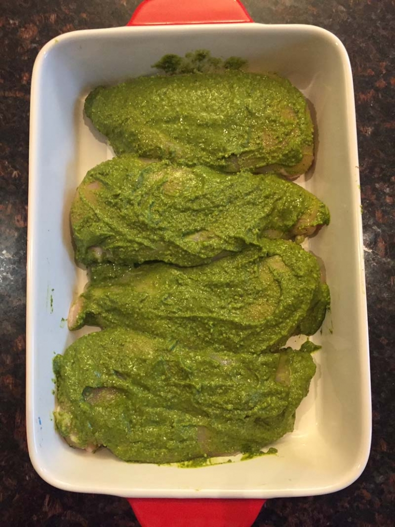 Chicken breast with pesto
