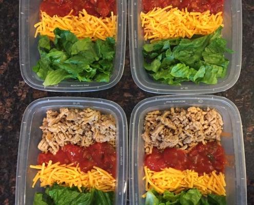 Keto Taco Salad Meal Prep