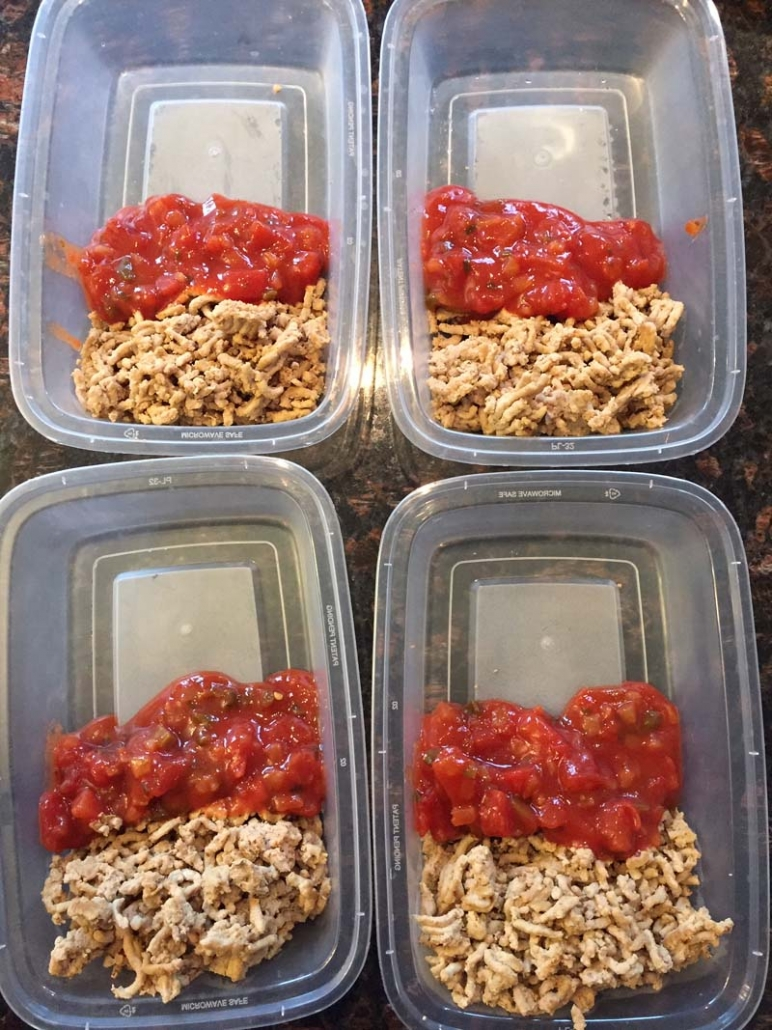 salsa ground beef taco meal prep