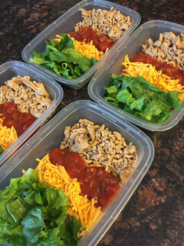 Prepping meals in containers