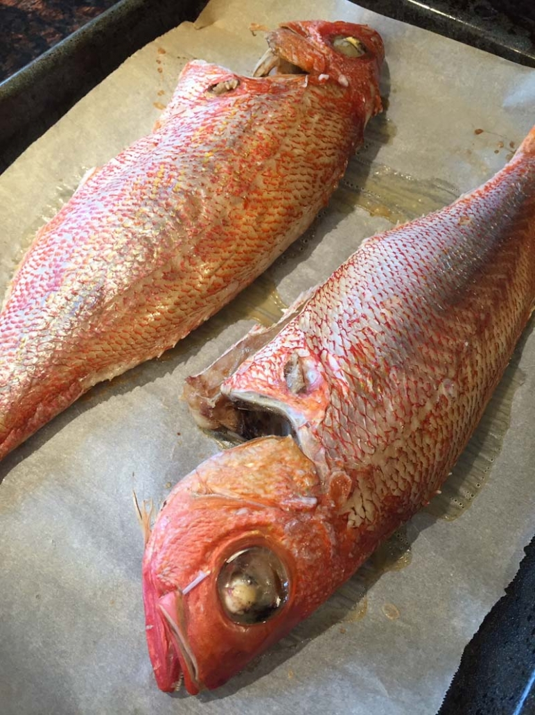 easy baked red snapper fish