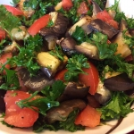 Roasted Eggplant Tomato Salad Recipe