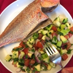 Baked Whole Red Snapper Fish