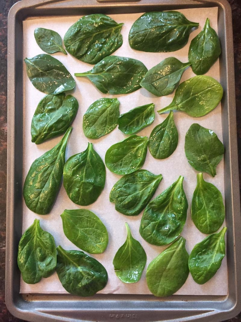 baby spinach chips