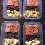 Keto Salmon Meal Prep With Cauliflower And Mushrooms