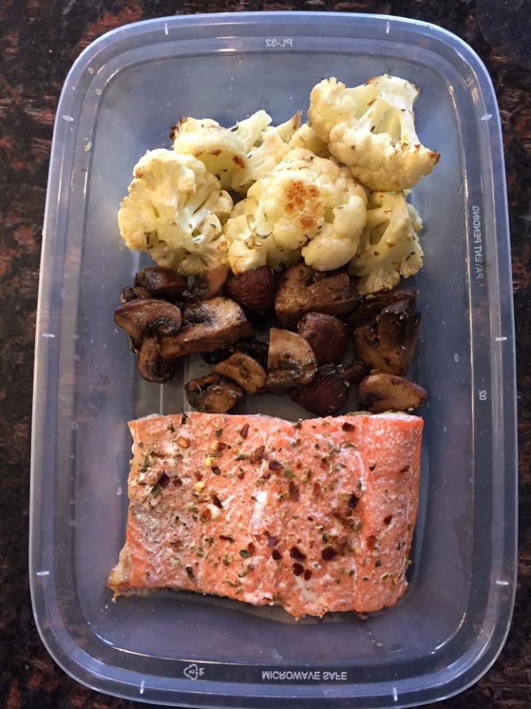 salmon cauliflower keto meal prep