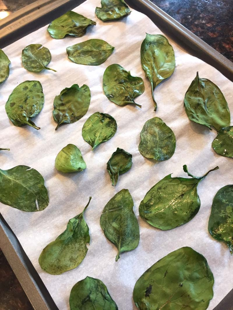 spinach chips without a dehydrator