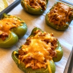 baked stuffed pepper halves