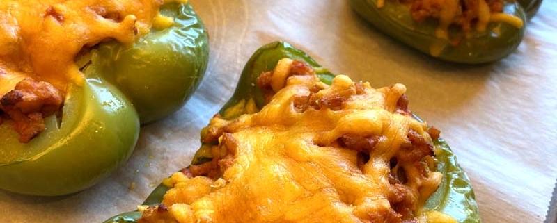 baked stuffed pepper halves