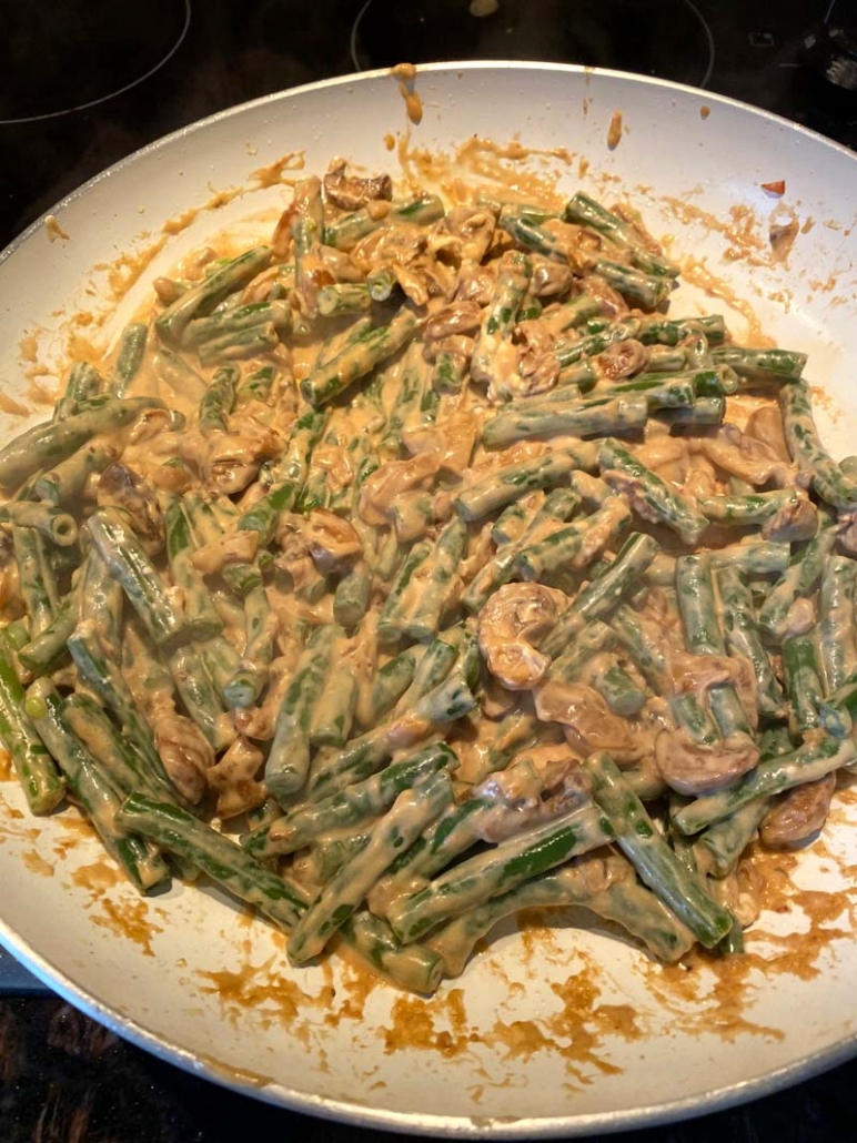making green bean casserole from scratch