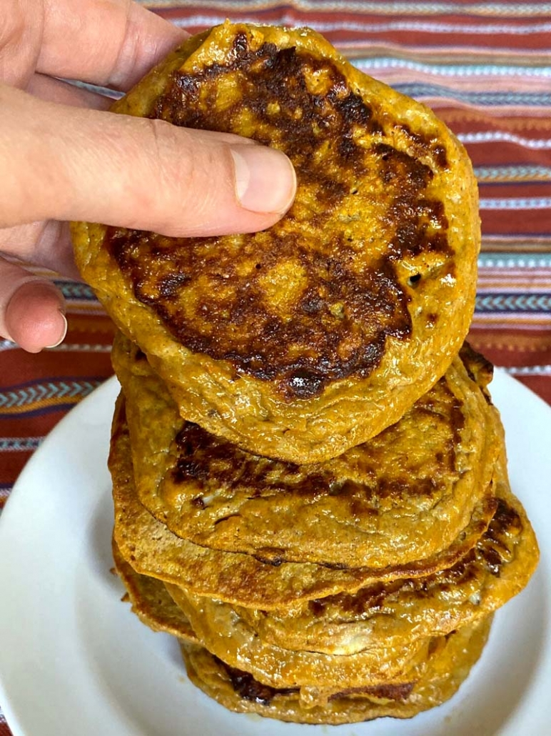 2 ingredient sweet potato pancakes - healthy, gluten-free, paleo recipe