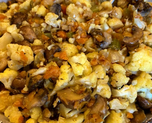 Keto Cauliflower Stuffing
