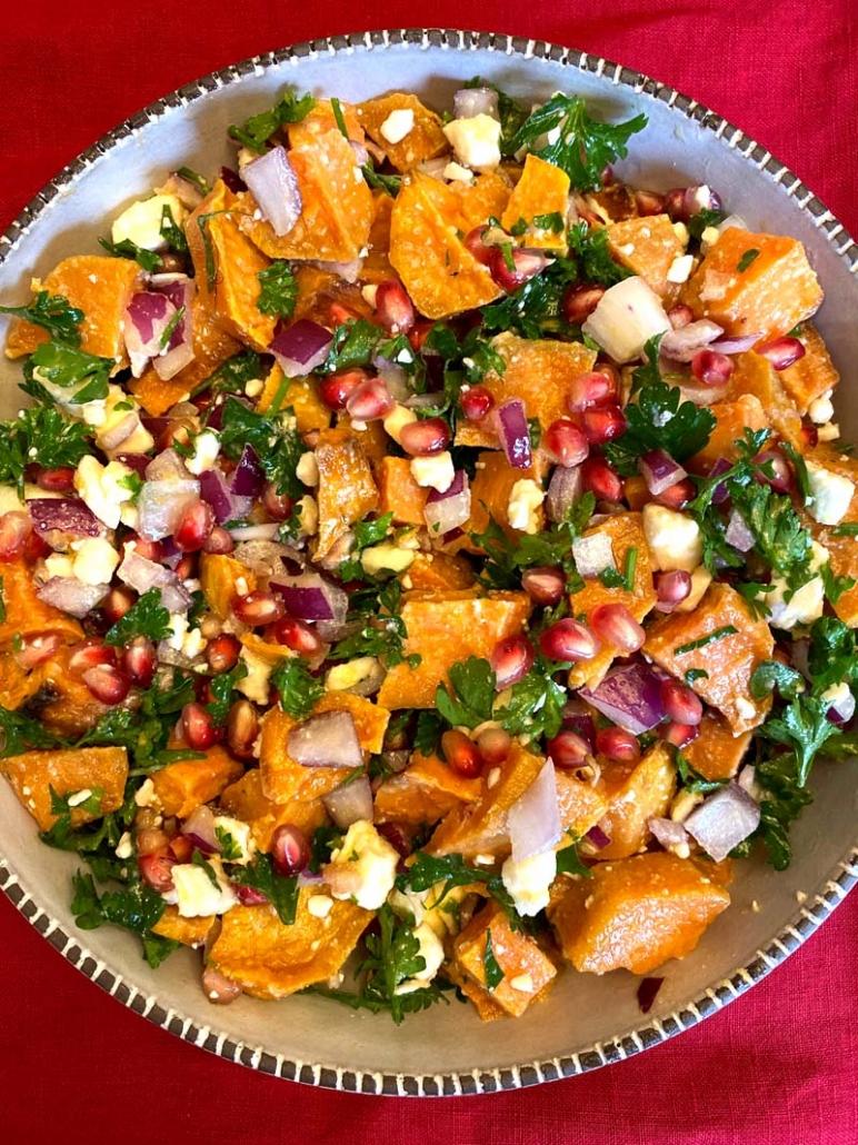 Pomegranate Sweet Potato Salad Recipe