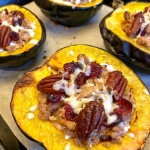 Turkey Stuffed Acorn Squash With Cranberries And Pecans